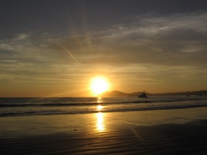 Sunsetting on my beach dream :(