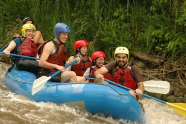 whitewater rafting smiling