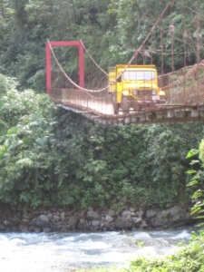 This is the shakiest bridge I've crossed in Costa Rica