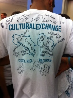 cultural exchange shirt with signatures