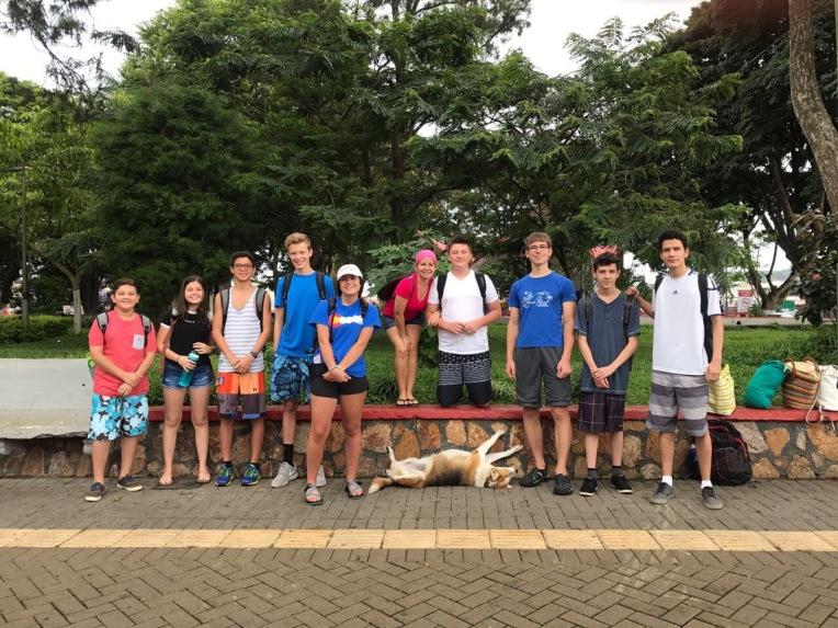 group photo at park