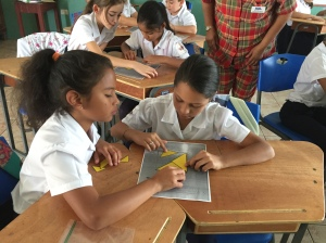 tangram activity with children