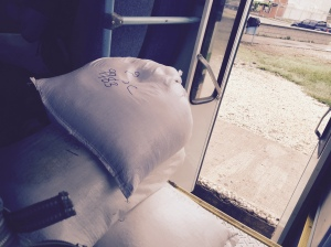 sacks on bus
