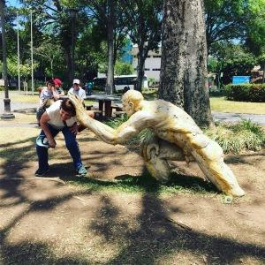 weird park sculpture