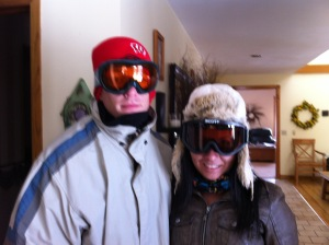 winter skiers ready