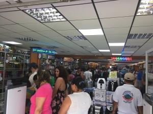 long shopping line